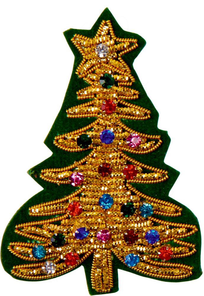 Baum, Brosche Endlich Weihnachten!