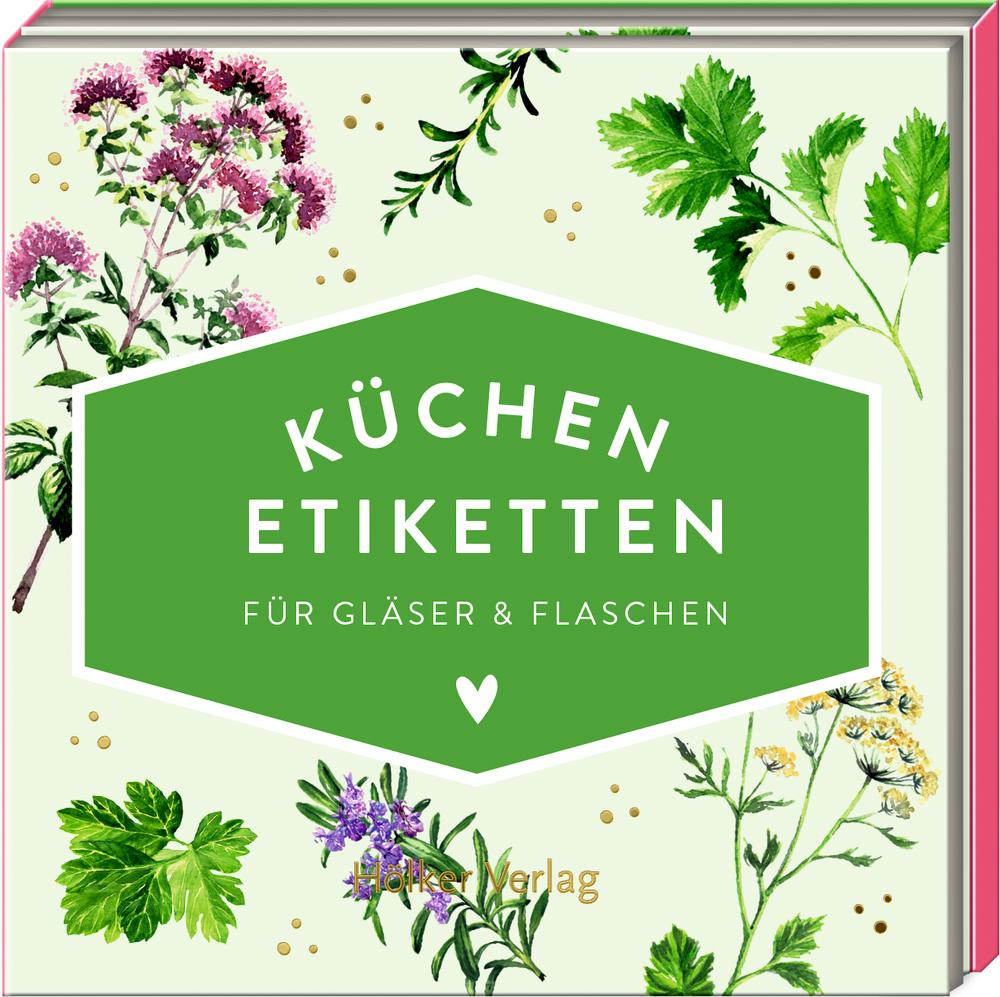 Küchen-Etiketten für Gläser & Flaschen, Kräuter (Küchenpapeterie)