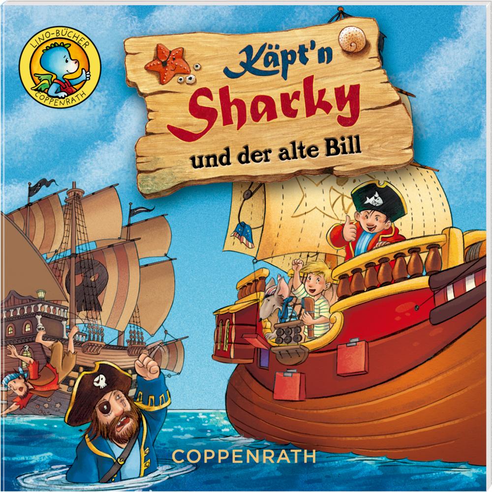 Käpt'n Sharky-Bildergeschichten (6 Lino-Bücher)