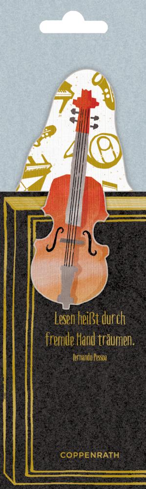 Lesezeichen mit Botschaft - All about music