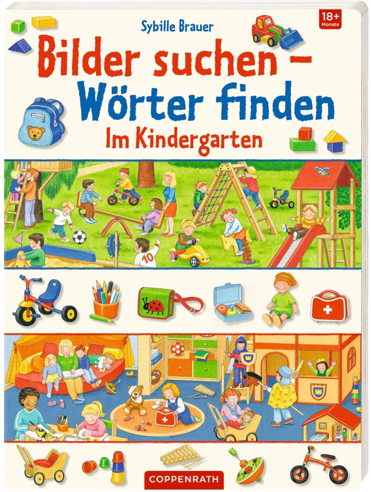 Bilder suchen - Wörter finden: Im Kindergarten