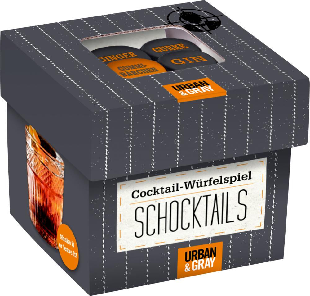 Das Cocktail-Würfelspiel SCHOCKTAILS Urban&Gray
