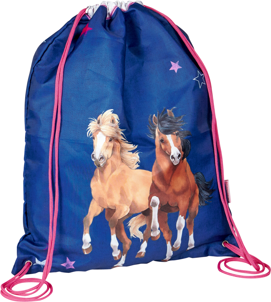 Sportbeutel Pferdefreunde, blau