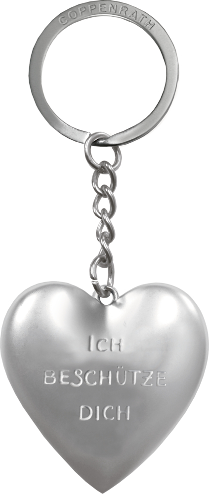 Schlüsselanhänger: Ich beschütze dich - Herz mit Schutzengel