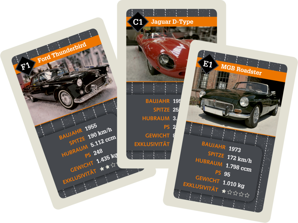 Autoquartett GENTLEMEN'S CARS Urban&Gray
