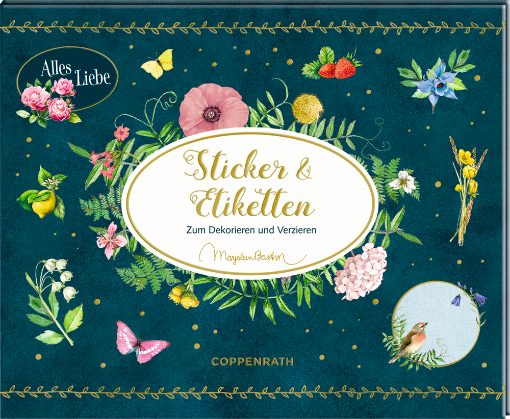 Stickerbuch: Zeitlos schön - Sticker & Etiketten (M.Bastin)