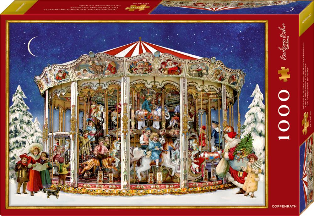 Puzzle Nostalgisches Weihnachtskarussell - B.Behr (1000 Teile)