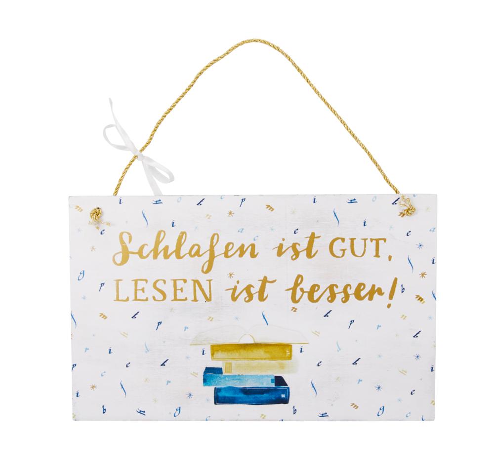 weiß, Holzschild BücherLiebe!