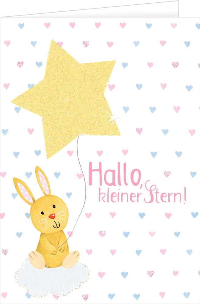 Stern, Grußkarte Willkommen BabyGlück
