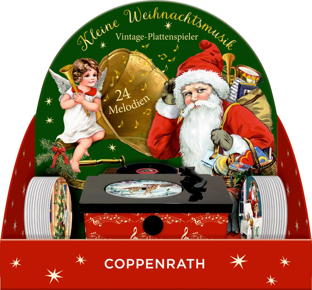 Kleine Weihnachtsmusik Vintage-Plattenspieler, Sound-Adventskalender (Behr)