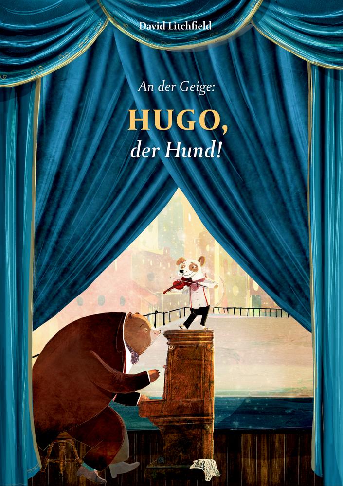 An der Geige: Hugo, der Hund!