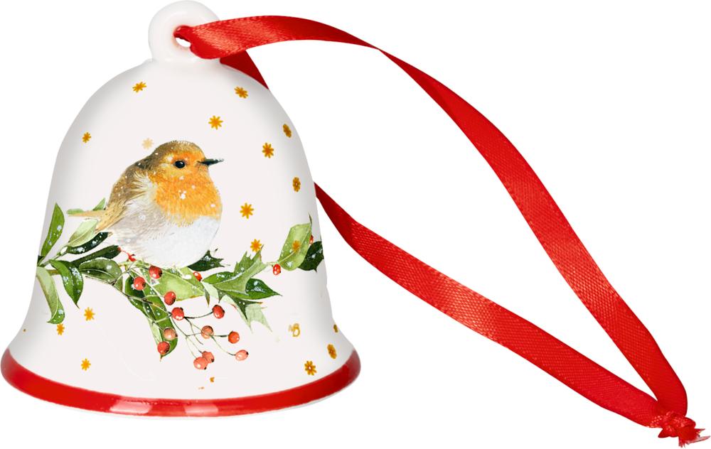 """Weihnachts-Glocke """"Rotkehlchen"""" Zauberhafte Weihnachten M.Bastin"""