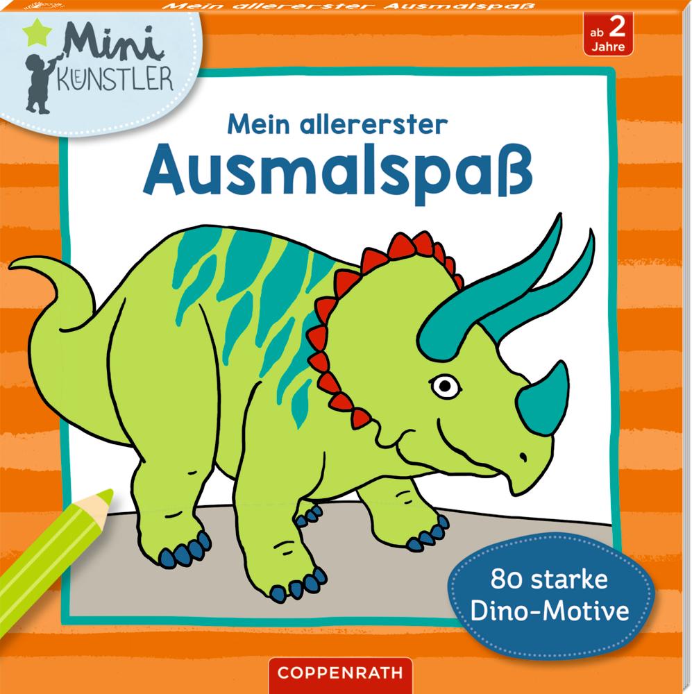 Mein allererster Ausmalspaß: 80 starke Dino-Motive (Mini-Künster)