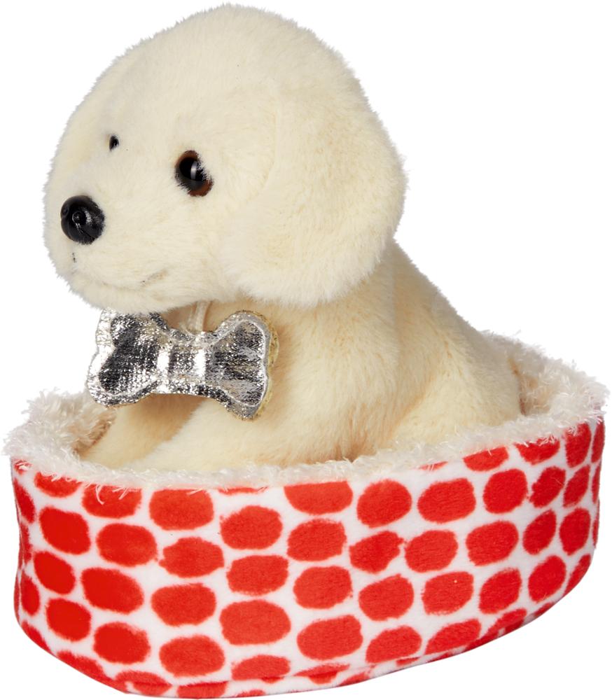 Labrador Lulu im Korb Lustige Tierparade