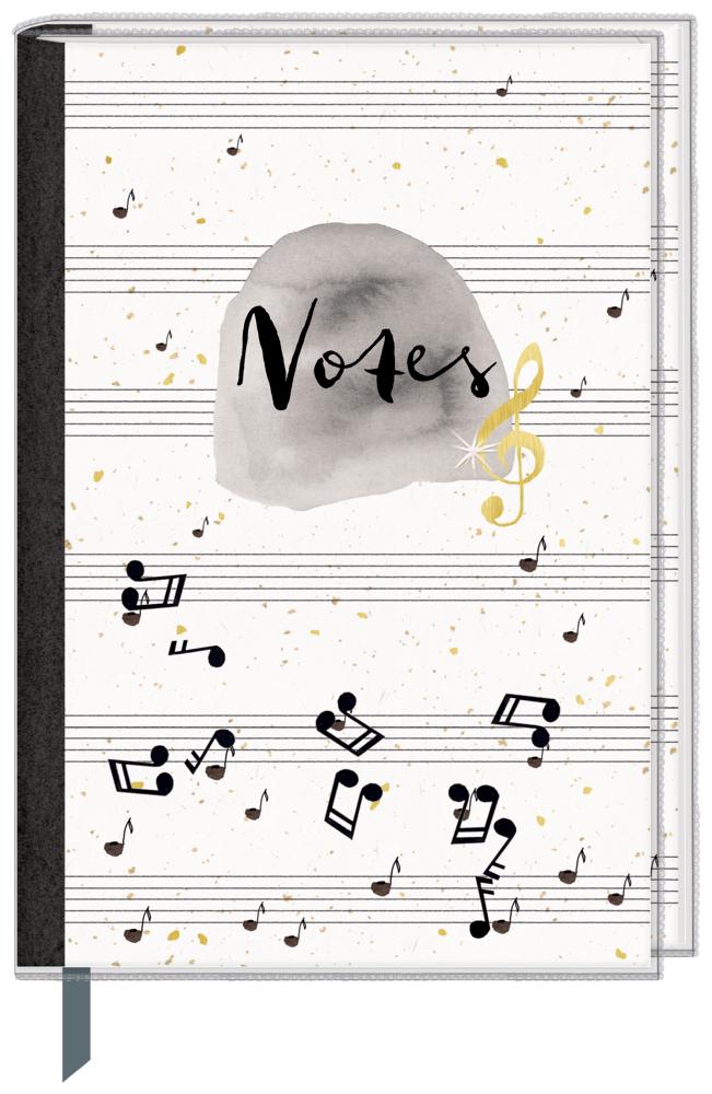 Eintragbuch mit Sammeltasche - Notes (Einband mit Noten)