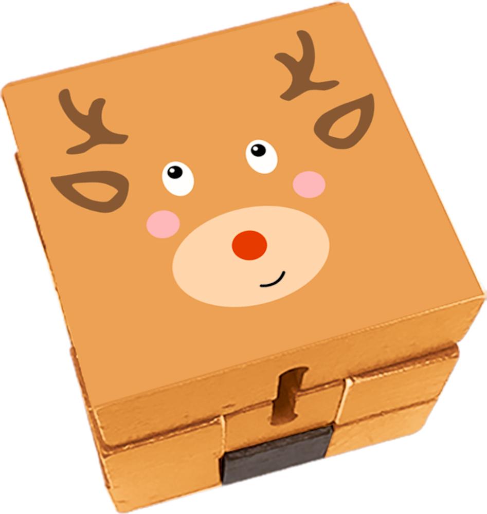 Puzzlewürfel Rentier Fröhliche Weihnachten!