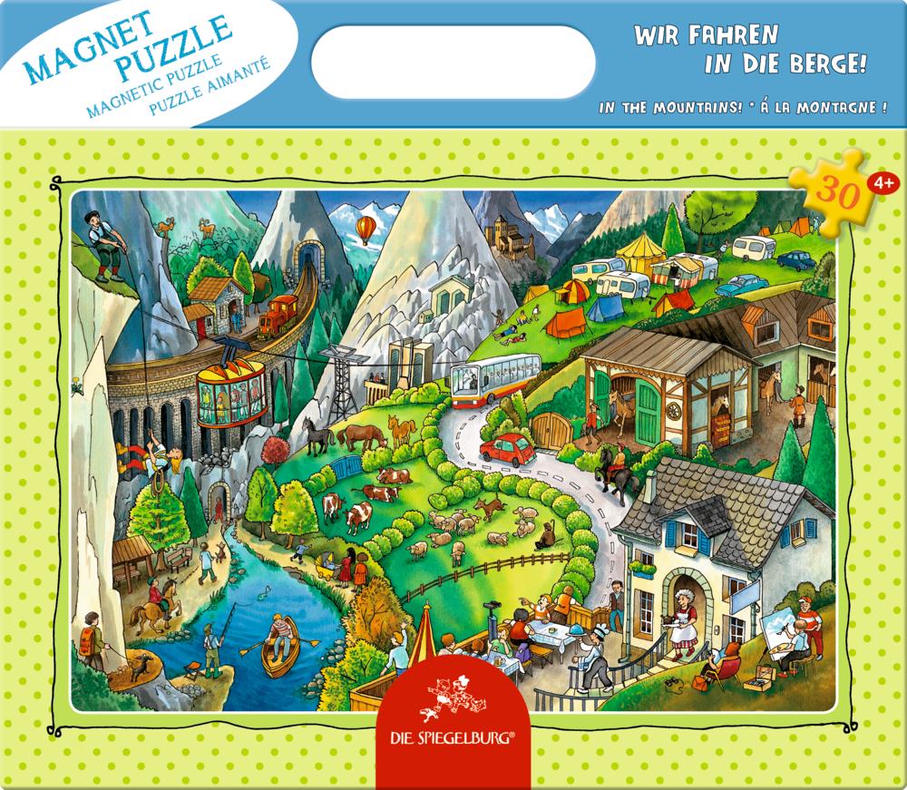 Magnetpuzzle Wir fahren in die Berge! (30 Teile)