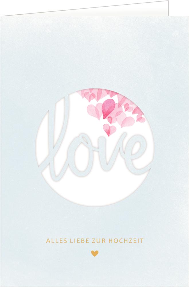 Grußkarte - Love (Hochzeit)