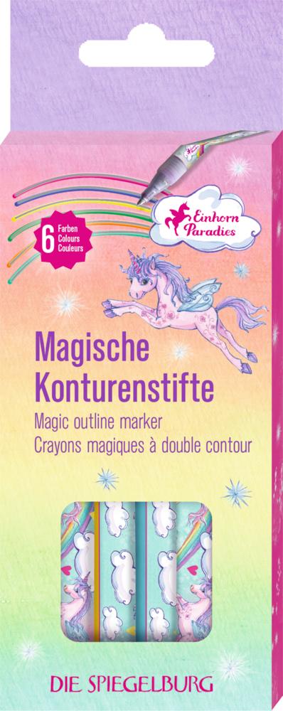 Magische Konturenstifte Einhorn-Paradies