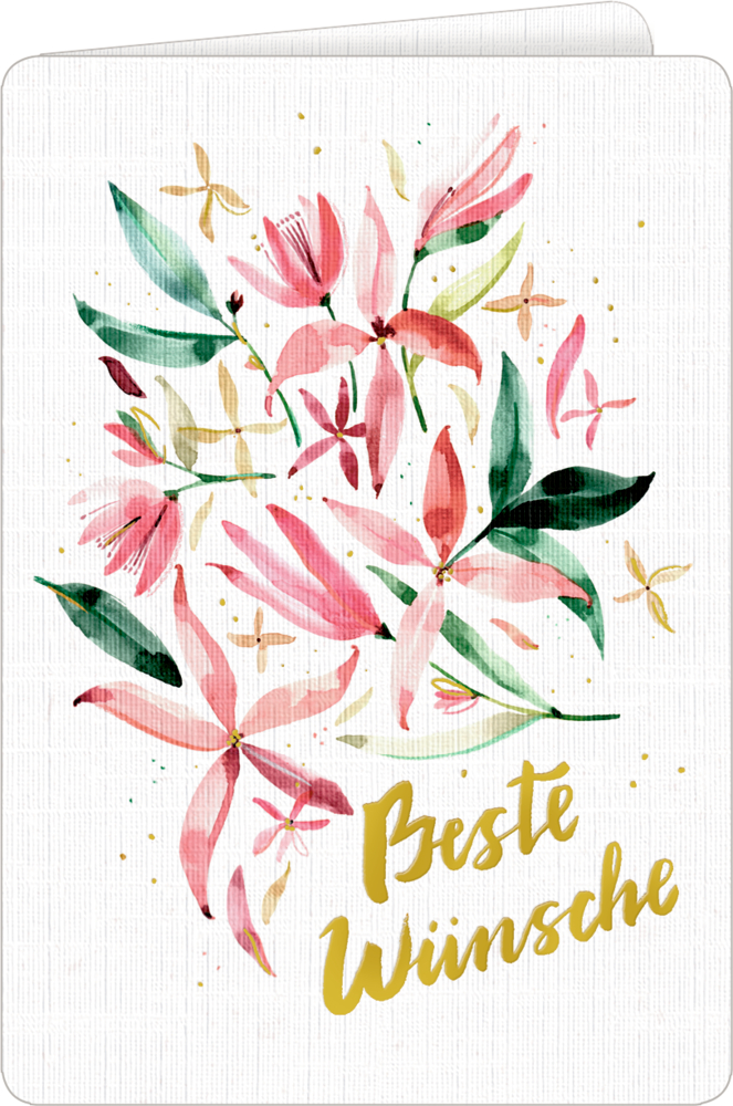 Grußkarte mit Kuvert - All about rosé