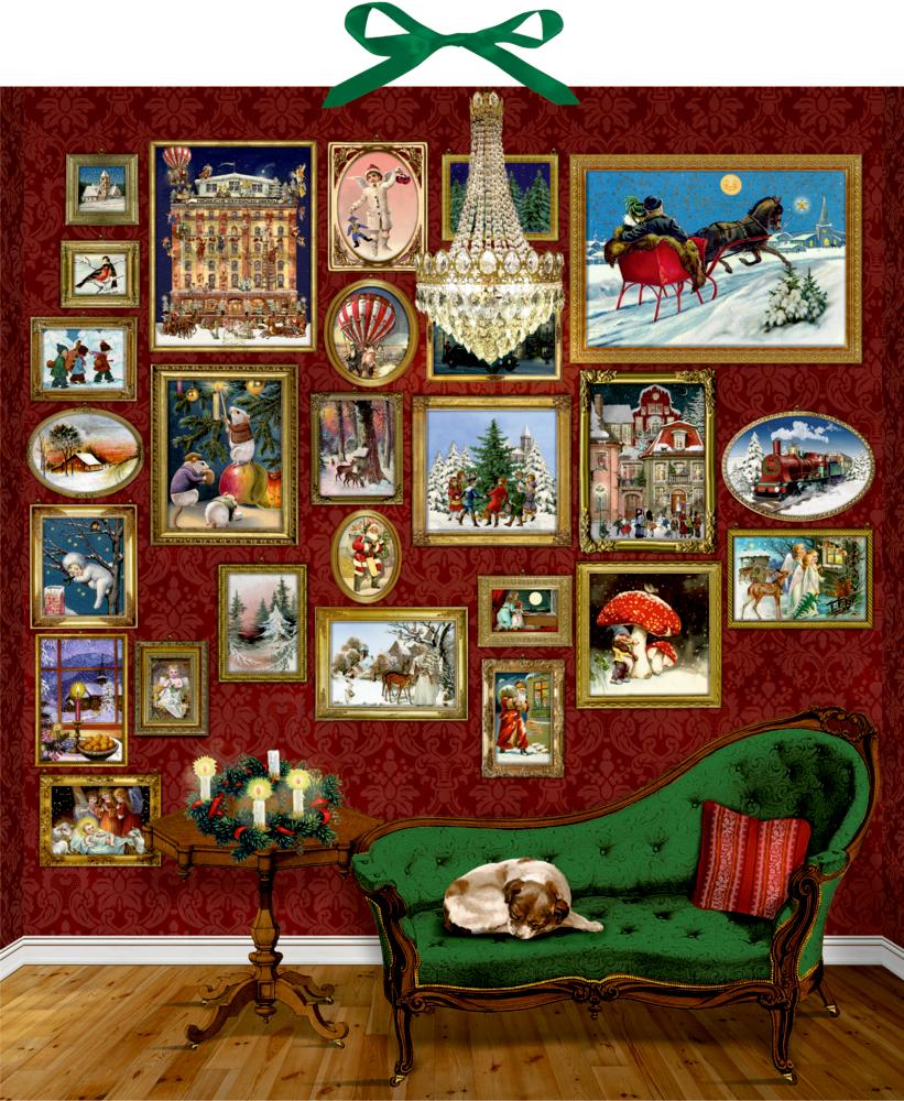Nostalgische Bildergalerie, Wand-Adventskalender (B.Behr)