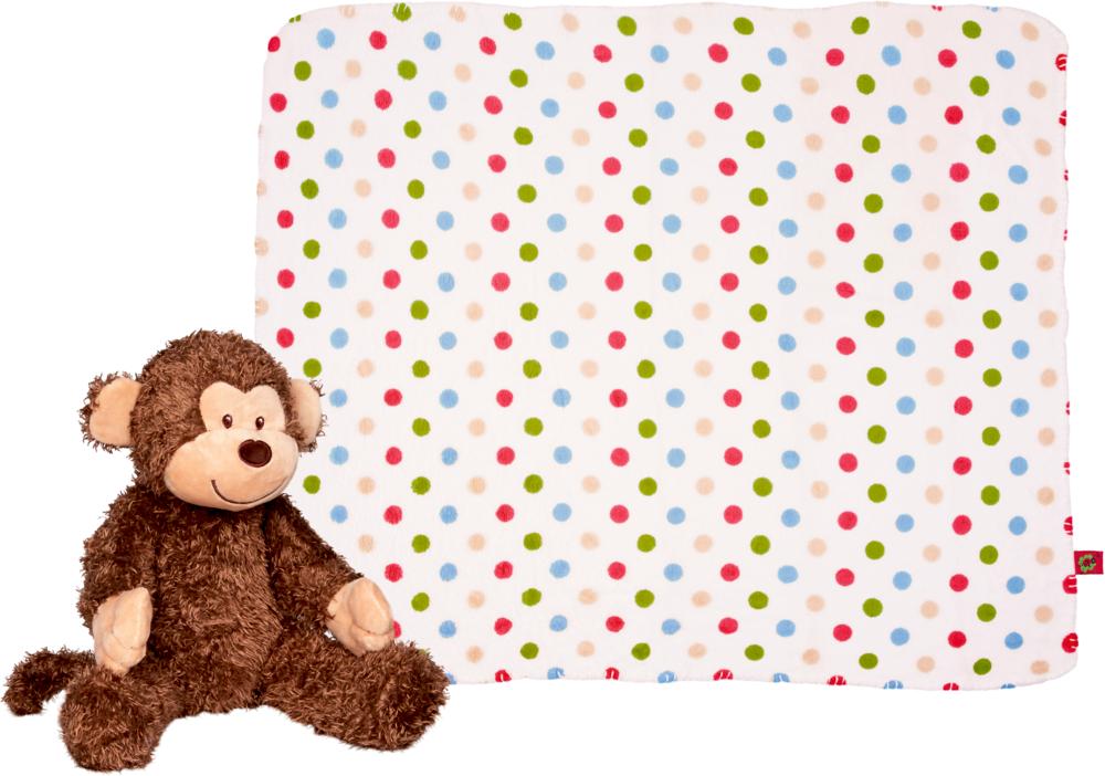 Geschenkset Plüschaffe und Decke BabyGlück