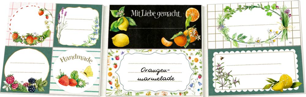 Etikettenbüchlein: Einmach-Etiketten - M. Bastin (GartenLiebe)