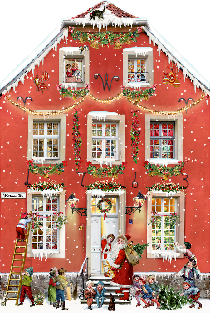 Weihnachten bei uns Zuhaus, Aufstell-Adventskalender (Behr)