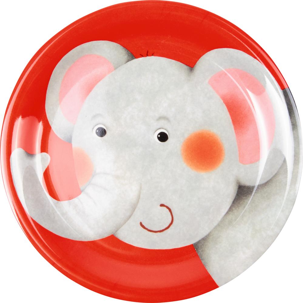 Melamin-Teller Elefant - Freche Rasselbande
