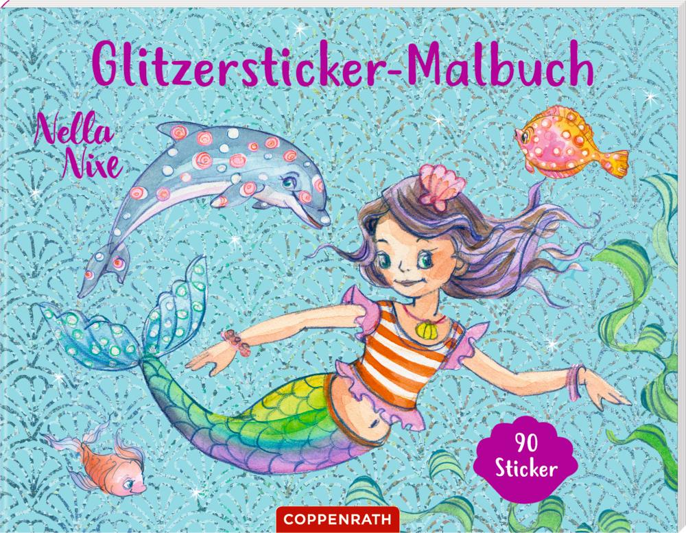 Nella Nixe: Glitzersticker-Malbuch