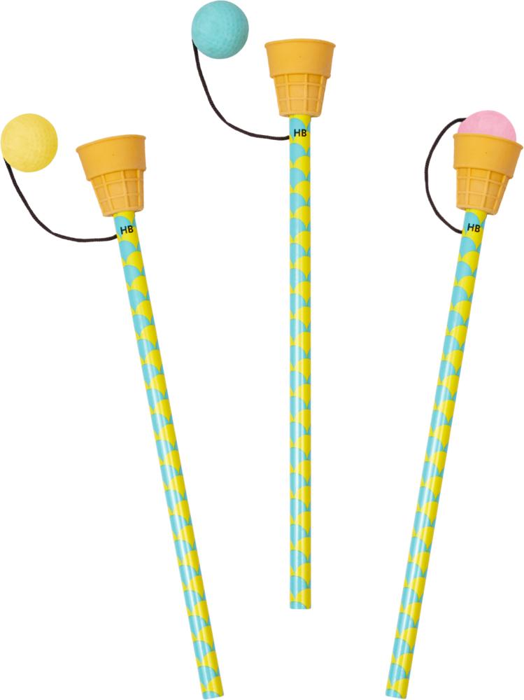 Bleistift mit Radier-Topper Bunte Geschenke