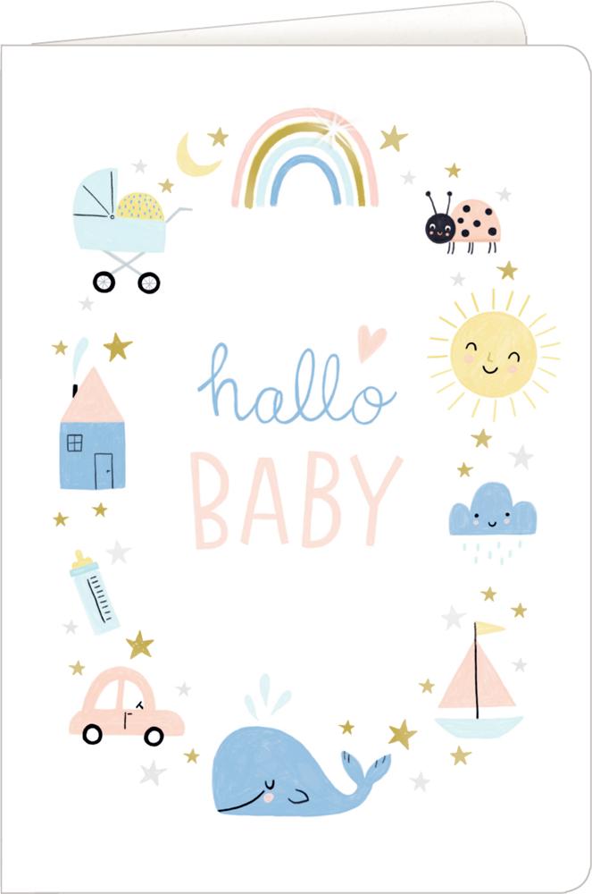 hallo/Wal, Grußkarte Meine kleine Welt - Willkommen!