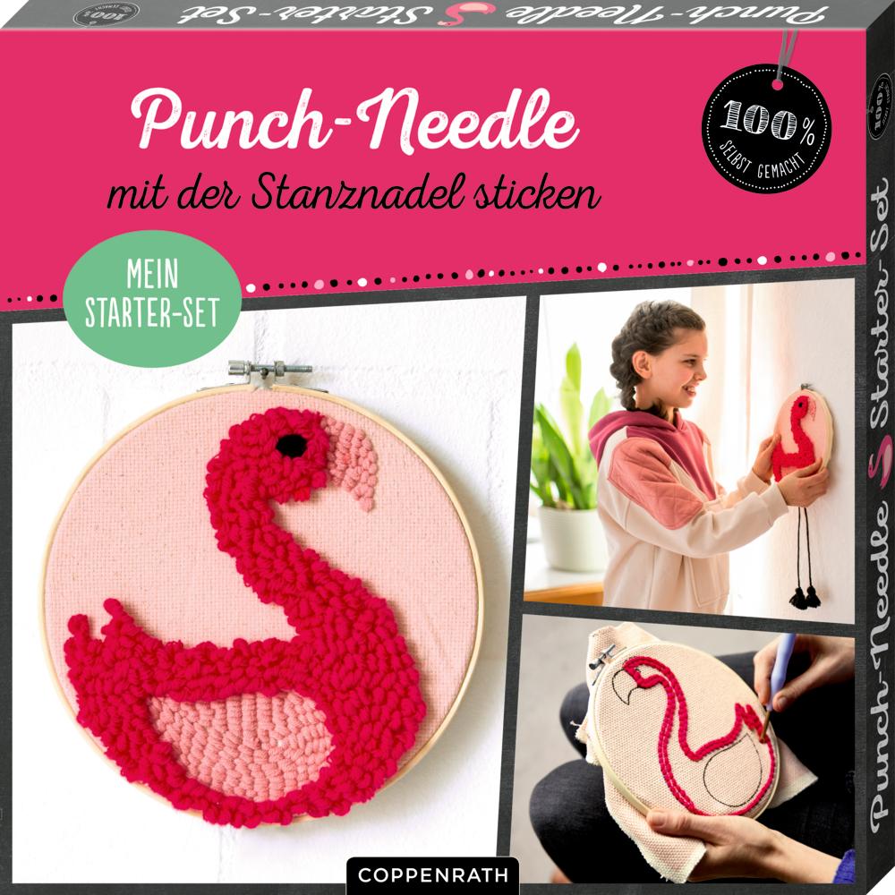 """Mein Punch-Needle Starter-Set """"Flamingo"""" (100% selbst gemacht)"""