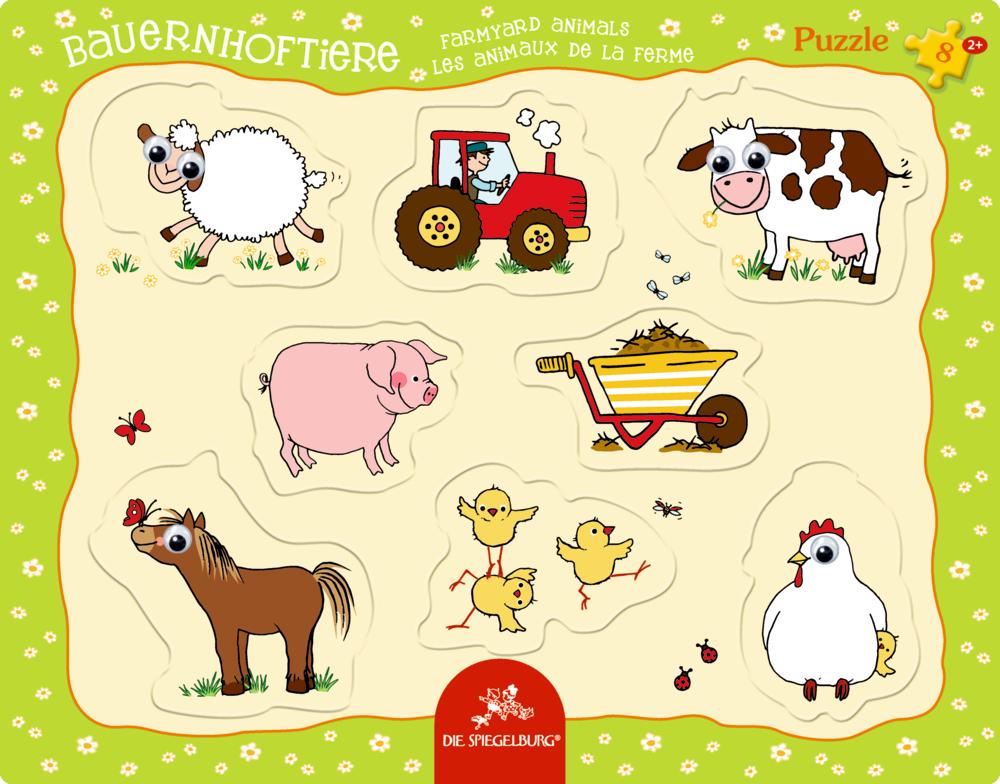Kulleraugen-Puzzle Bauernhoftiere (8 Teile)