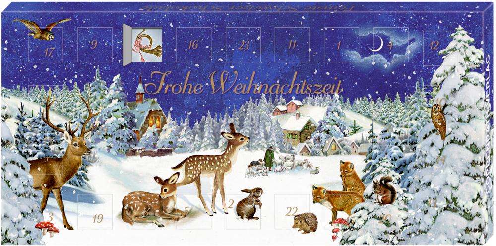 Adventskalender-Schokolade - Winterlandschaft (B. Behr)