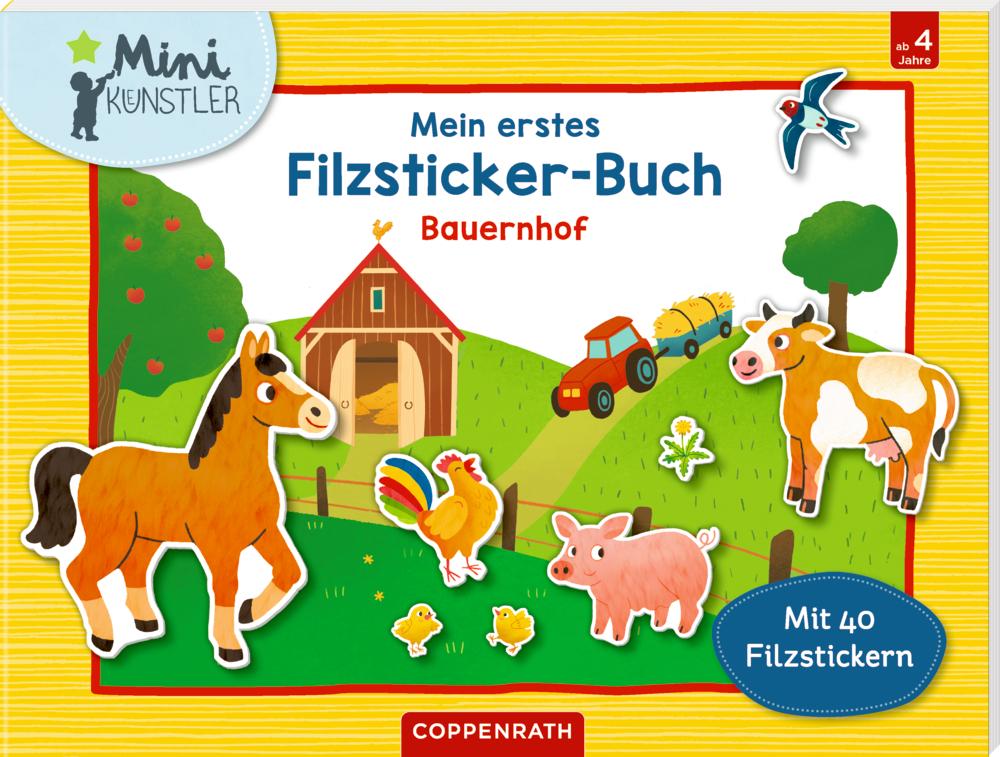 Mein erstes Filzsticker-Buch: Bauernhof (Mini-Künstler)