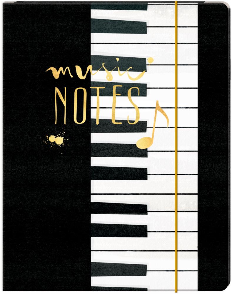 Sammelmappe A4  All about music (mit Goldfolie)