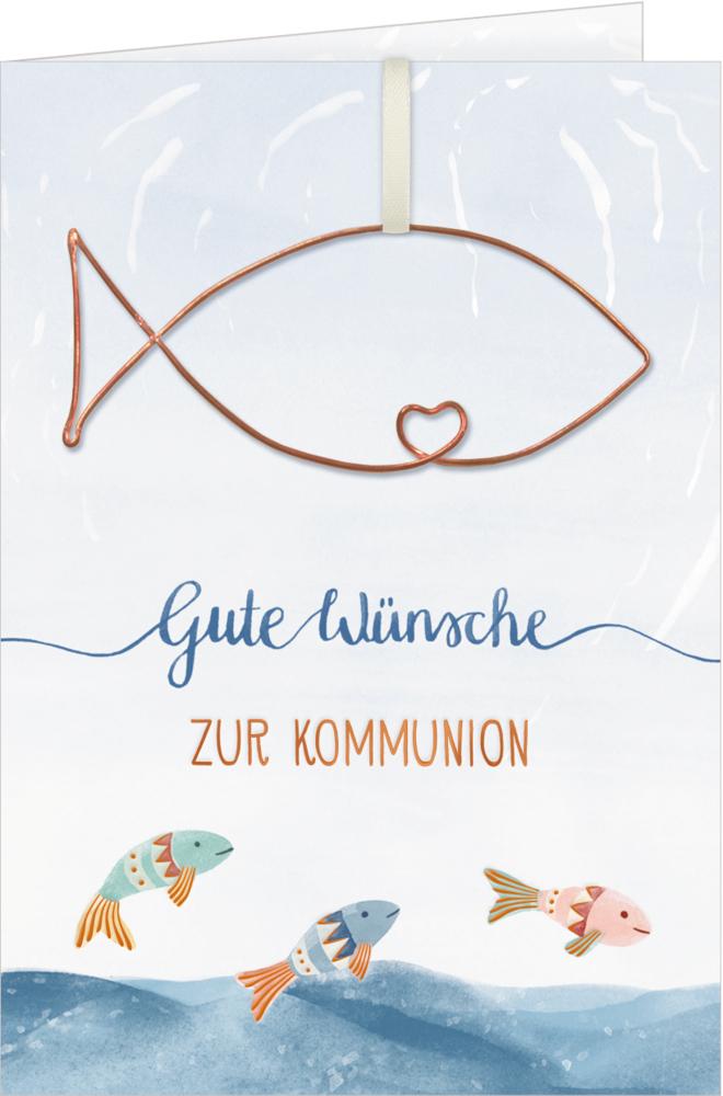 Grußkarte Gute Wünsche zur Kommunion