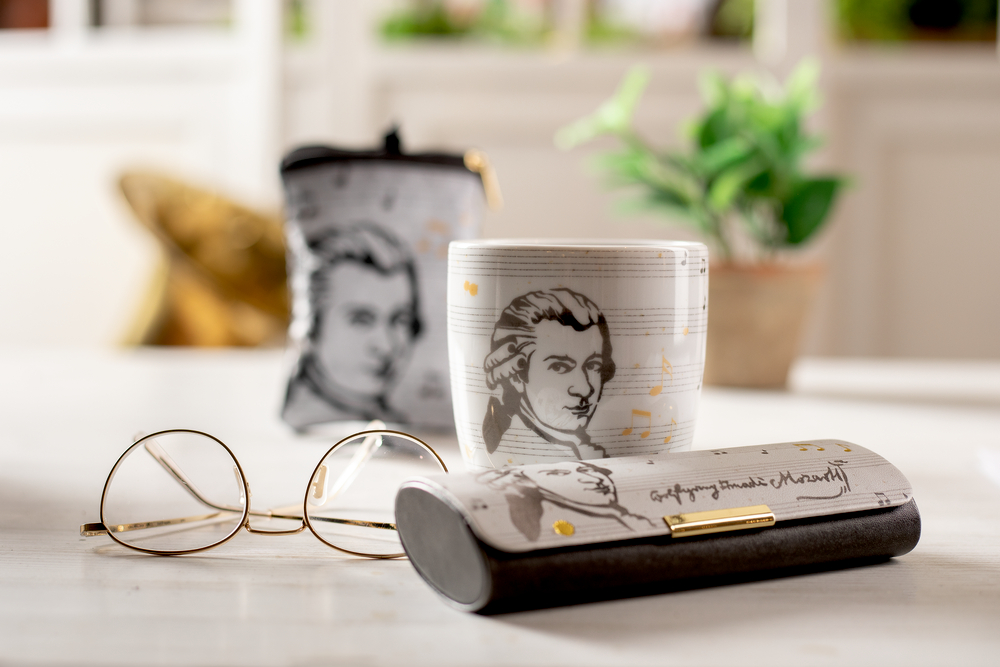 """Brillenetui """"Edition Mozart"""" All about music"""