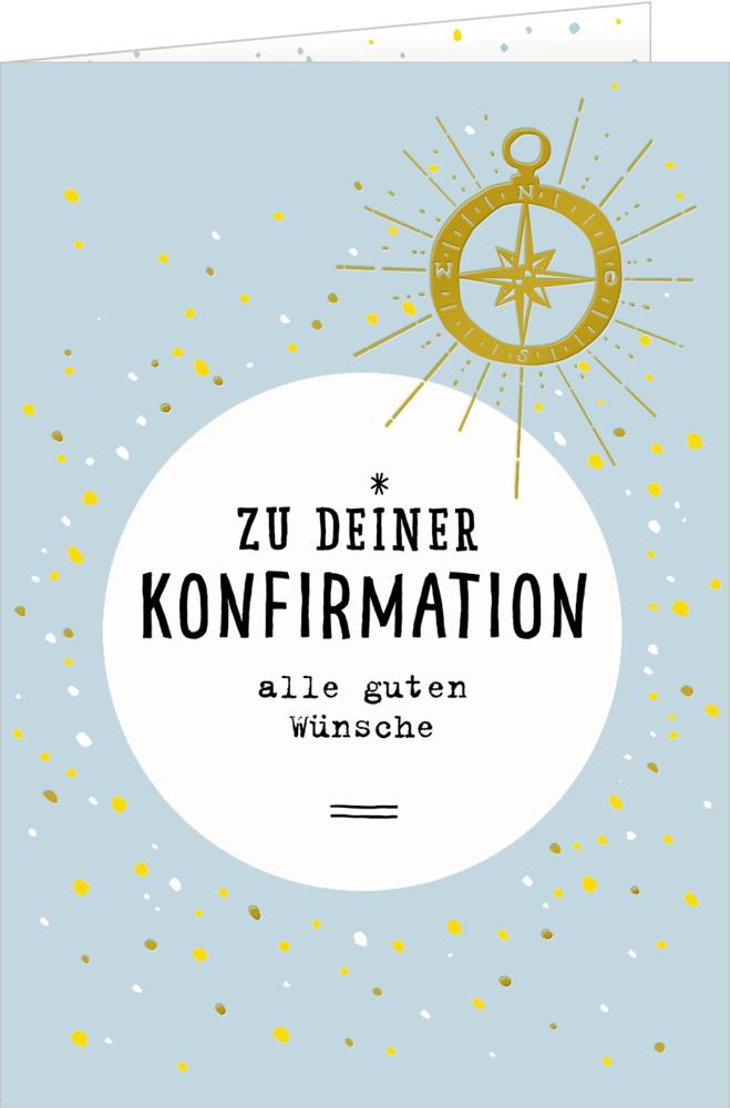 Grußkarte: Zu deiner Konfirmation alle guten Wünsche