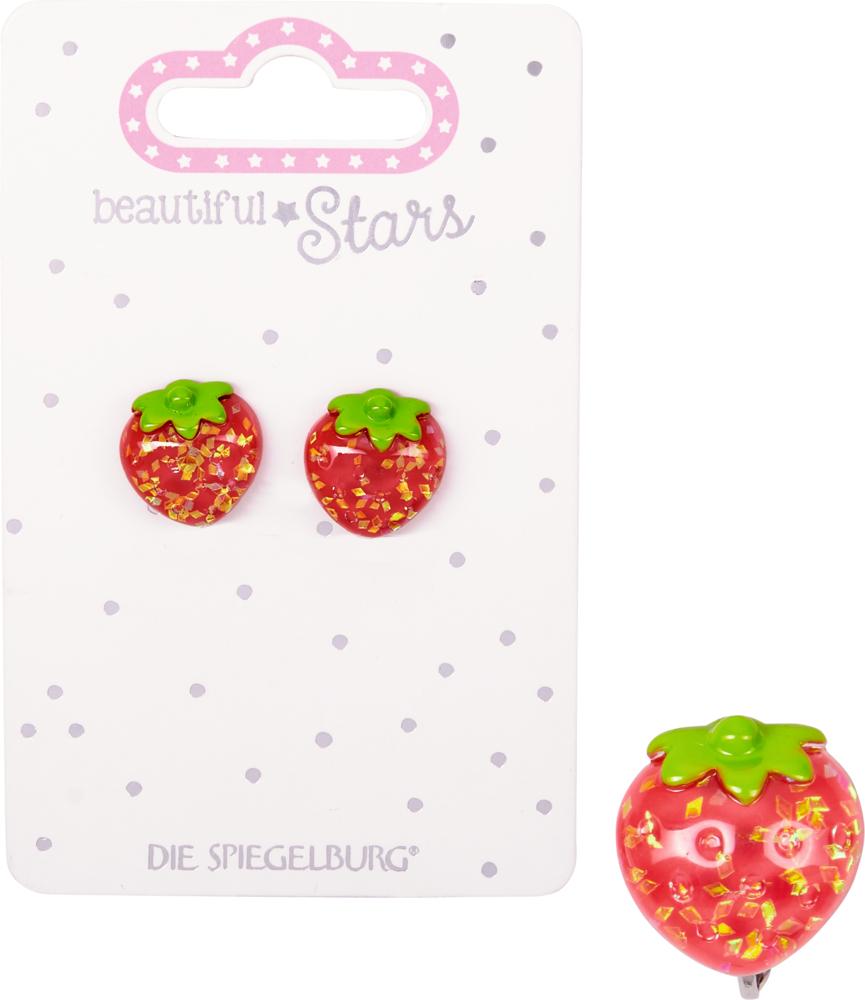 Erdbeeren, Ohrclips Summertime beautiful Stars