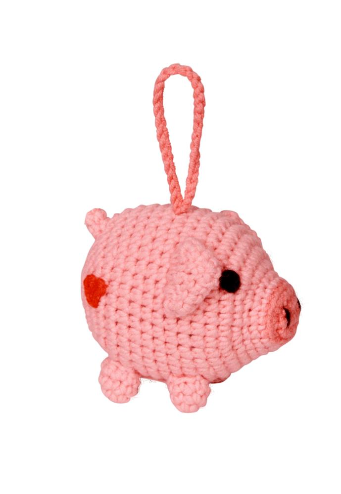 Kleines Häkelschwein Viel Glück