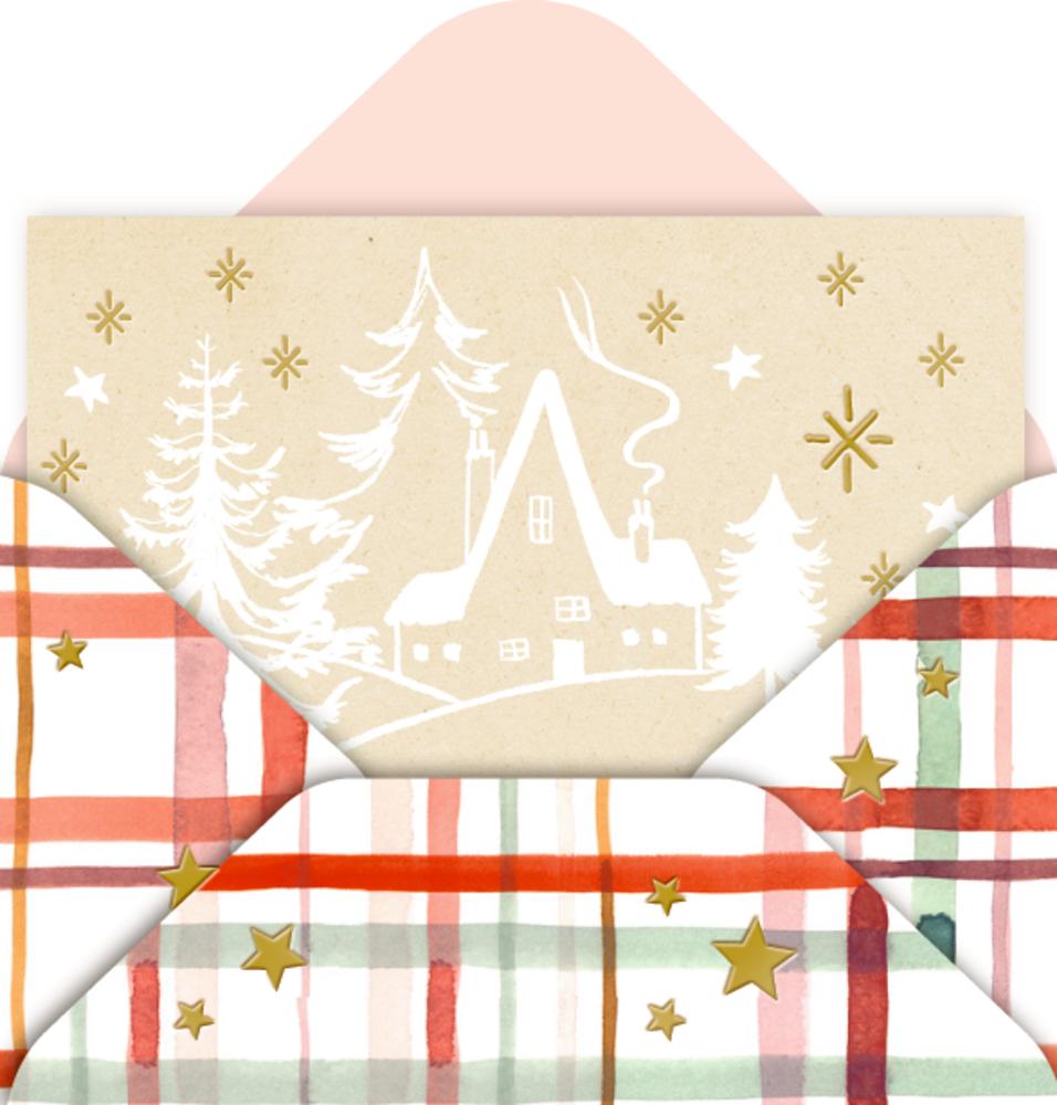Mini-Briefchen Weihnachtliche Grüße