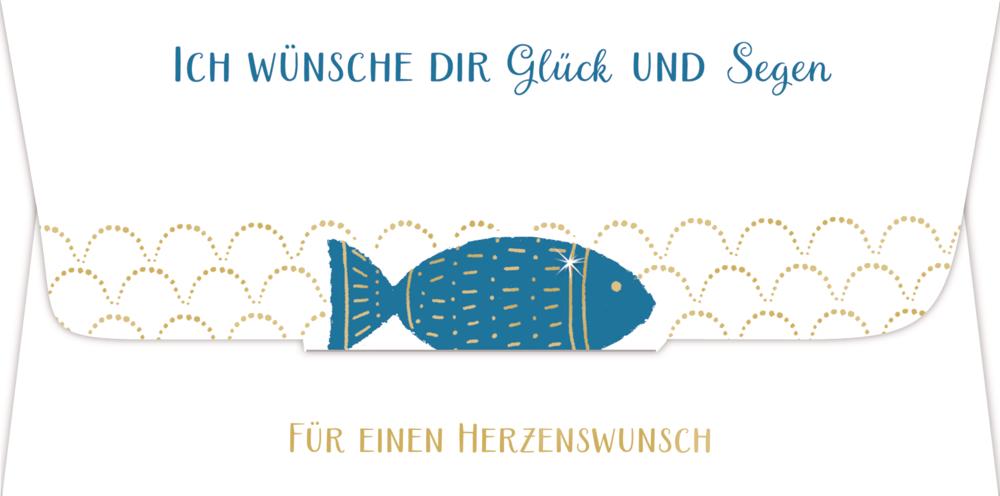 Kuvert für ein Geld- oder Gutscheingeschenk - Ich wünsche dir Glück und Segen