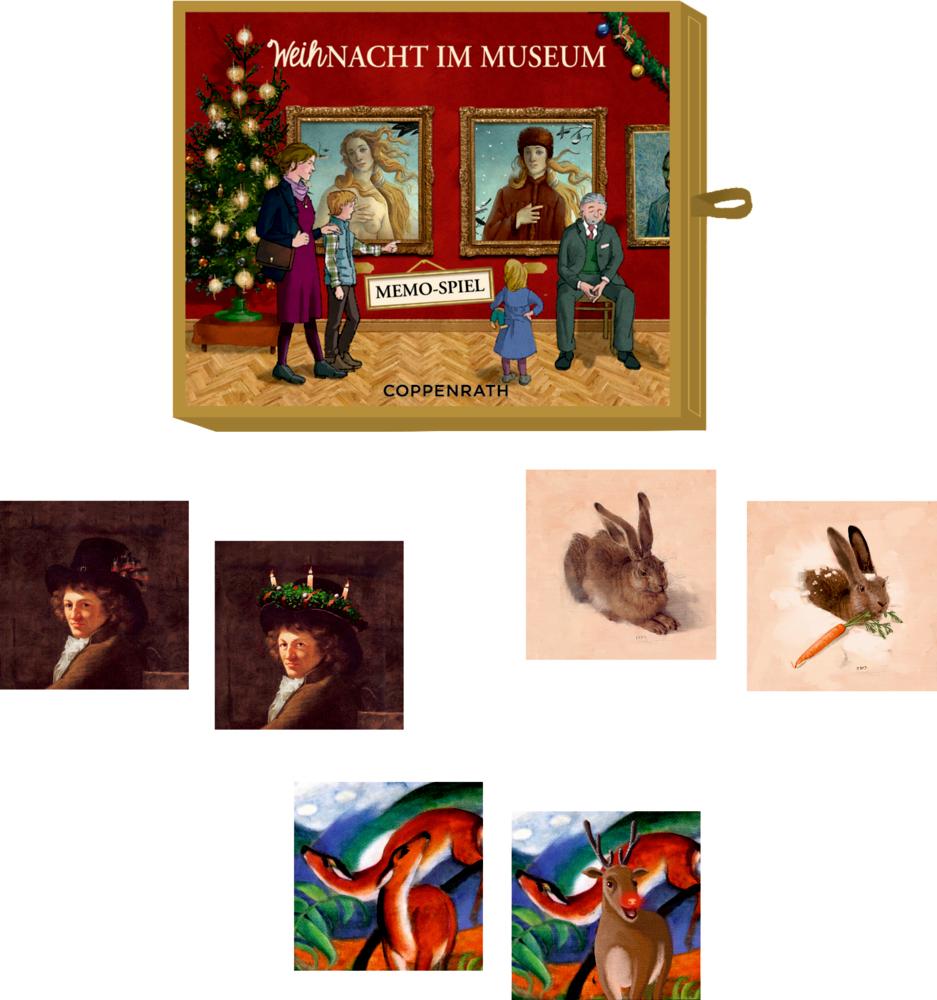 Memo-Spiel WeihNacht im Museum, Schachtelspiel (Advent/Weihnachten)