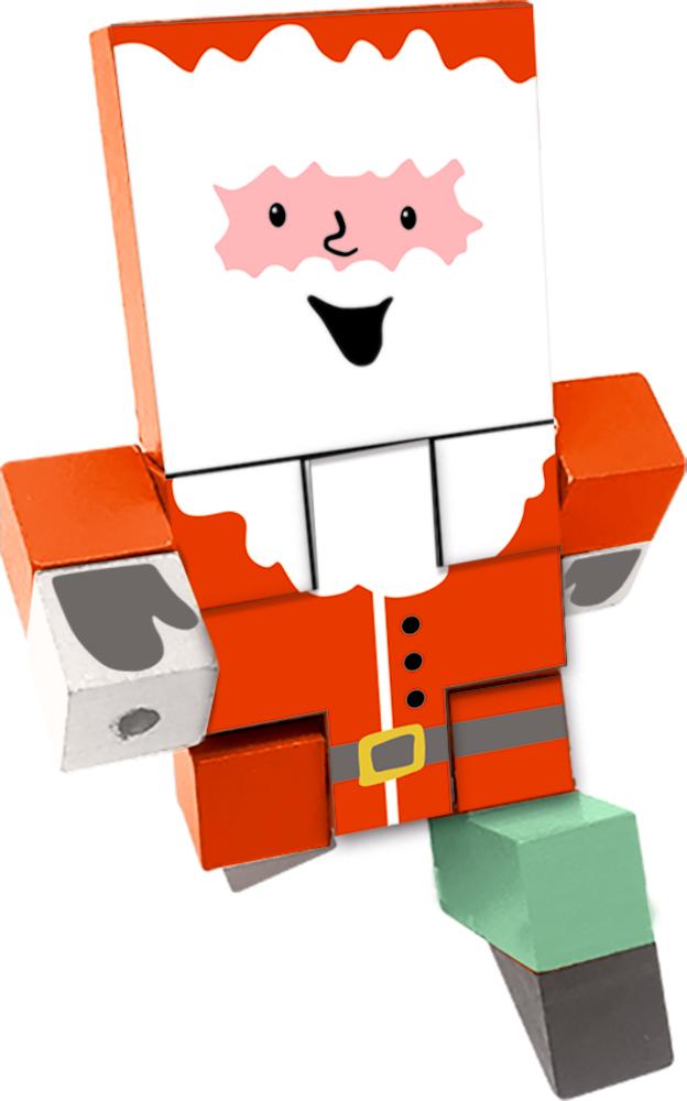 Puzzlewürfel Weihnachtsmann Fröhliche Weihnachten!