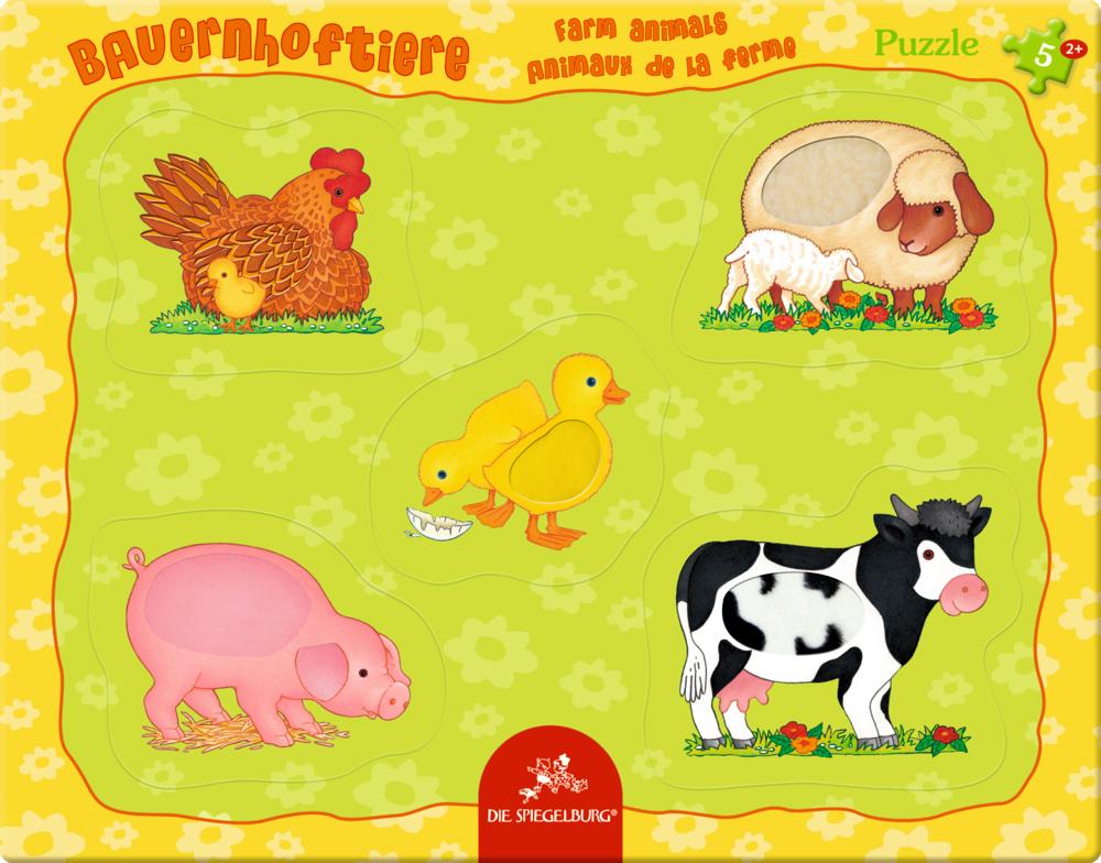 Fühlpuzzle Bauernhoftiere (5 Teile)