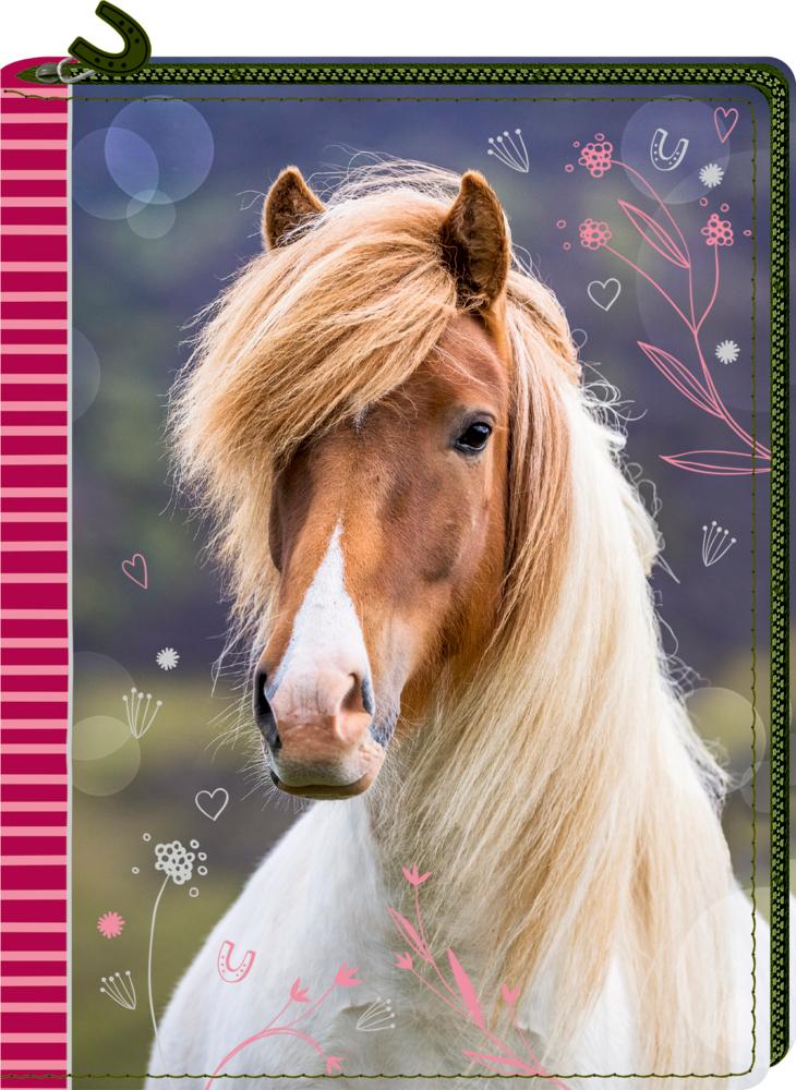 Tagebuch mit Reißverschluss - Pferdefreunde