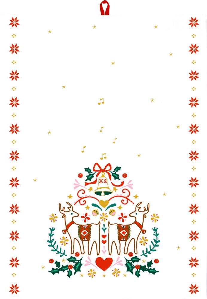 """Geschirrtuch Weihnachten """"Alle Jahre wieder..."""" aus Baumwolle"""