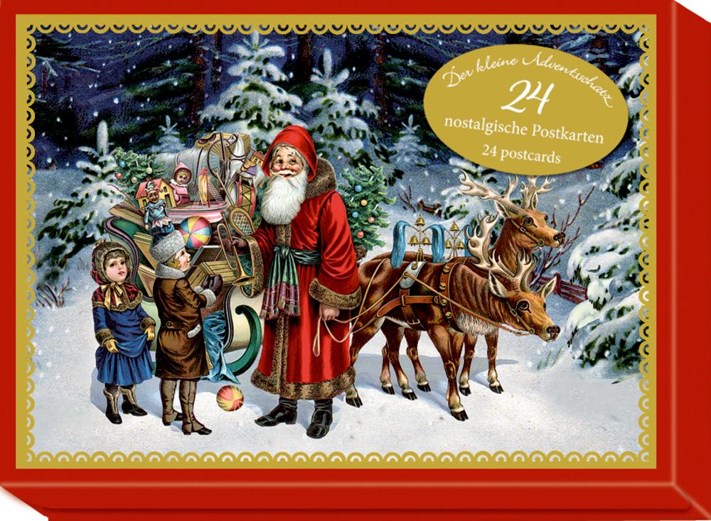 Der kleine Adventsschatz - 24 nostalgische Postkarten (Behr)